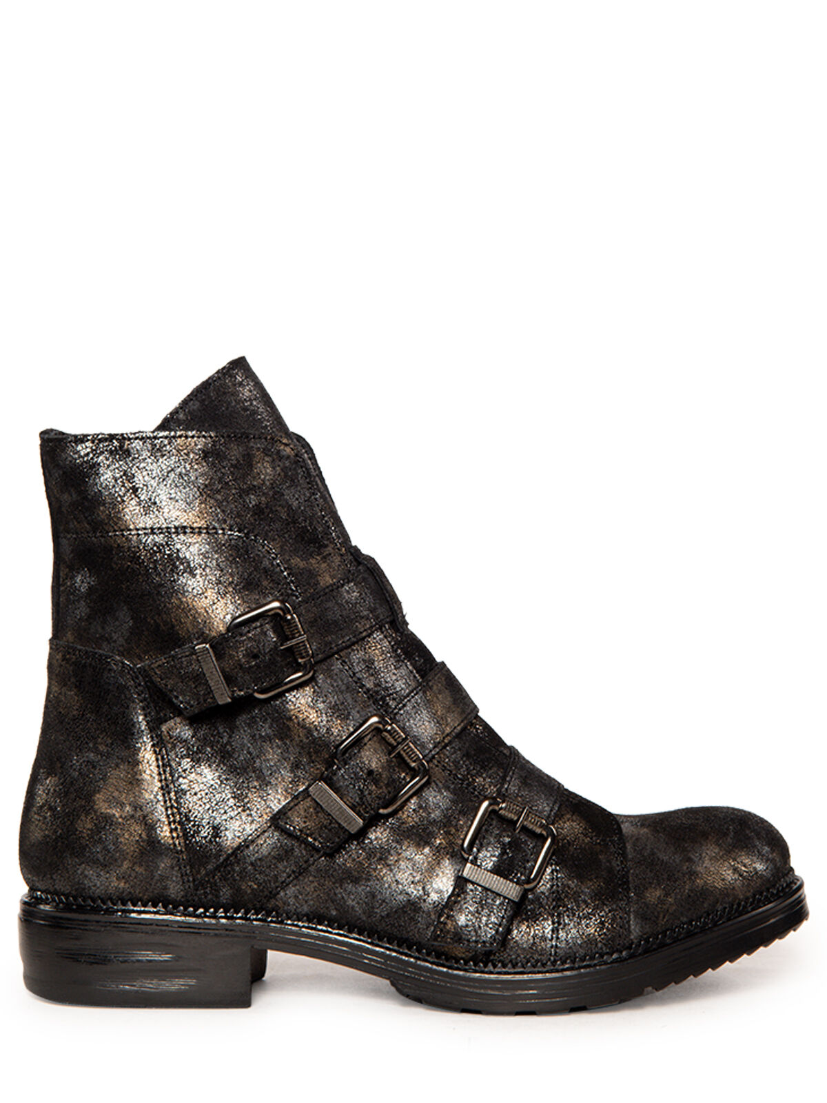 Otto Kern Boots drei Riegel silberschwarz | Dress for less