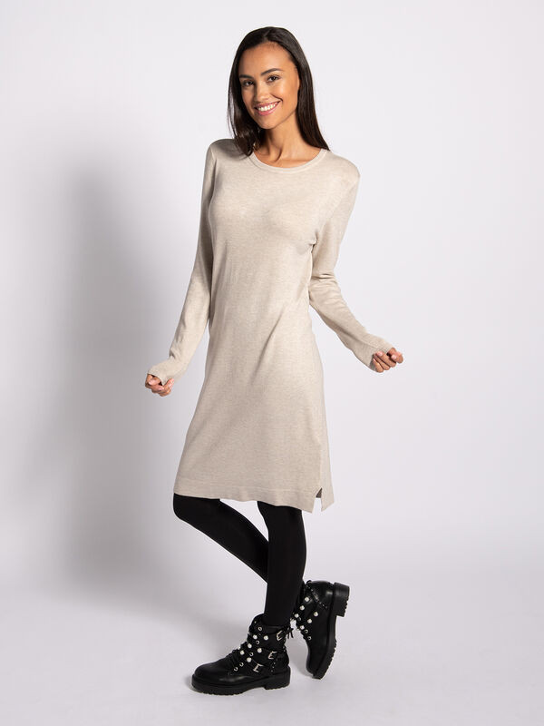 Gebreide jurk Midi