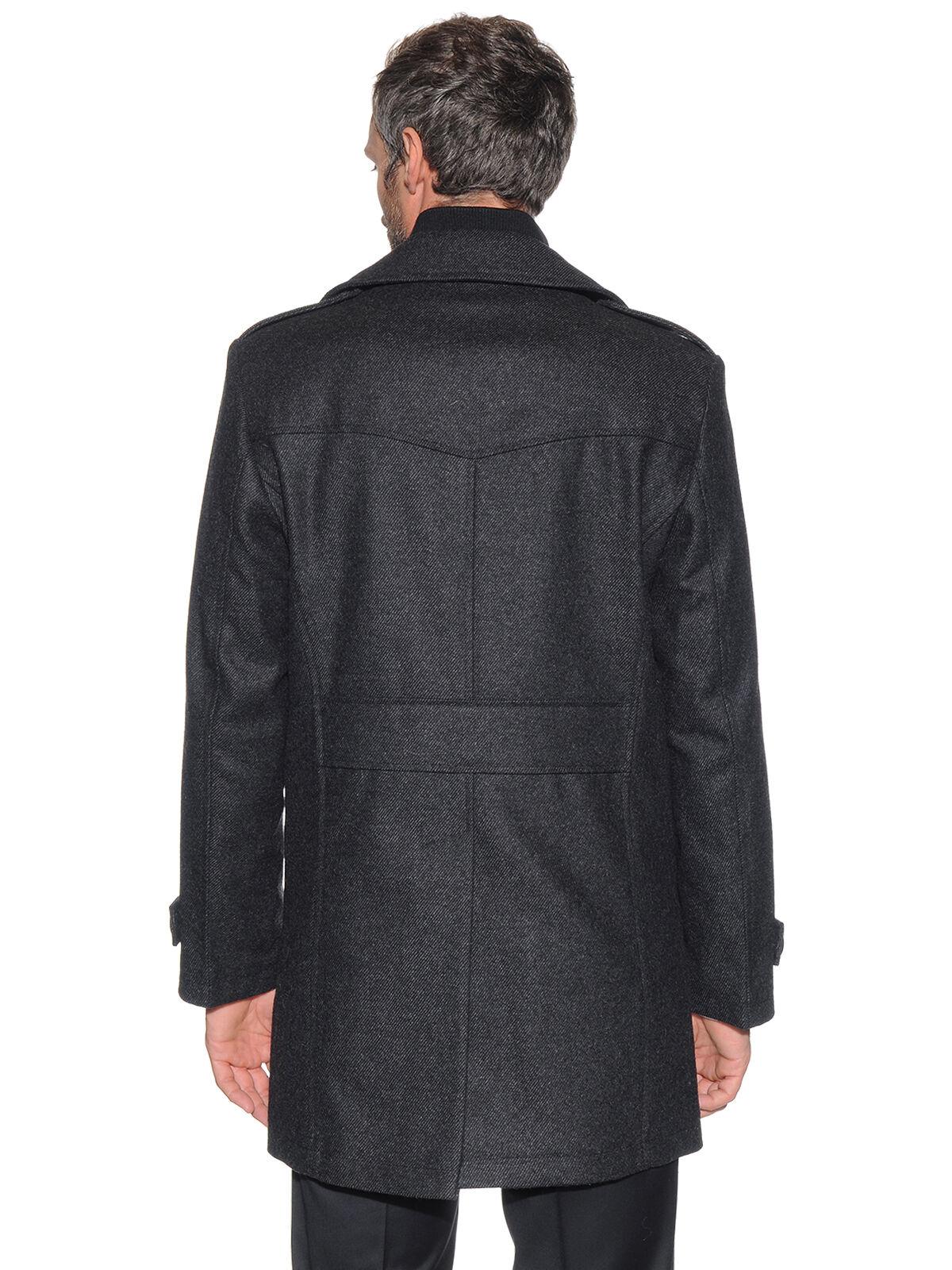 Korte mantel met kasjmier