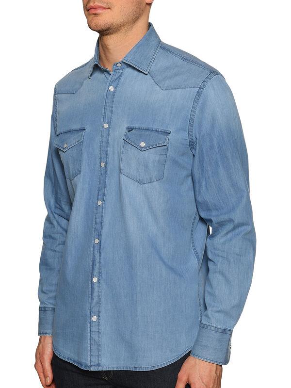 Custom Fit Denim Shirt